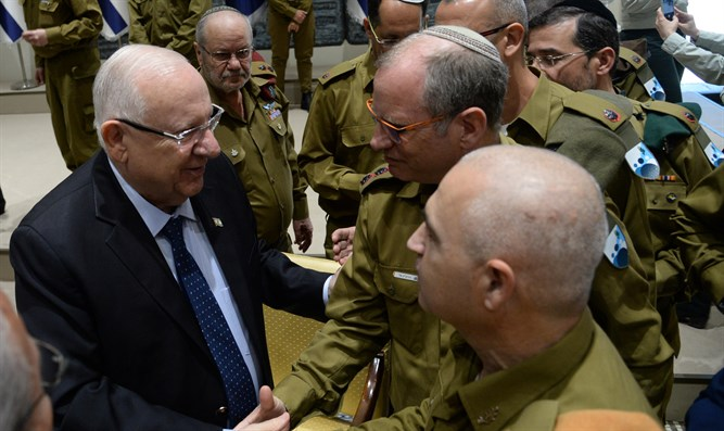 President Rivlin with IDF casualties unit members - 5 May 2019