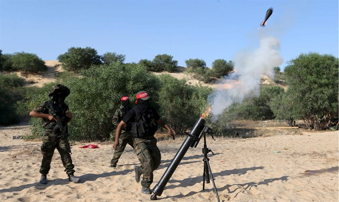 Mortar fire from Gaza