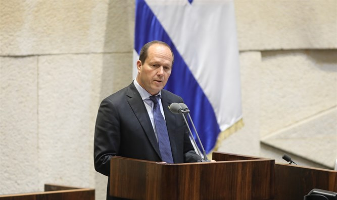 Nir Barkat in the Knesset