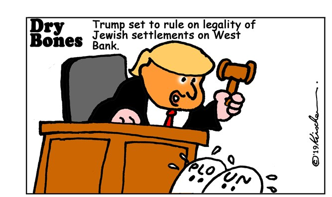 Trump is set to reject UN and PLO on Jews' legal rights in 'West Bank'
