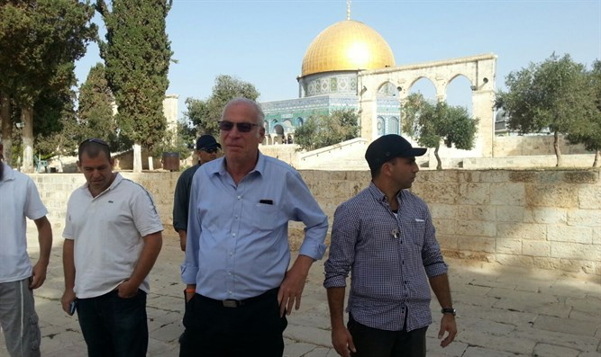Minister Ariel on Temple Mount (archive)