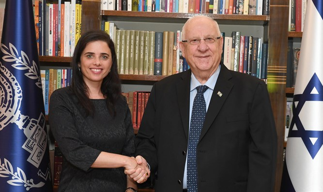 Ayelet Shaked with President Reuven Rivlin
