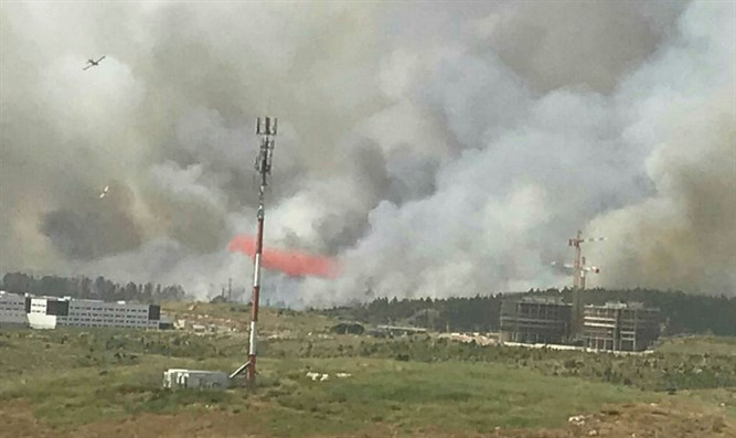 Fire in Ben Shemen Forest