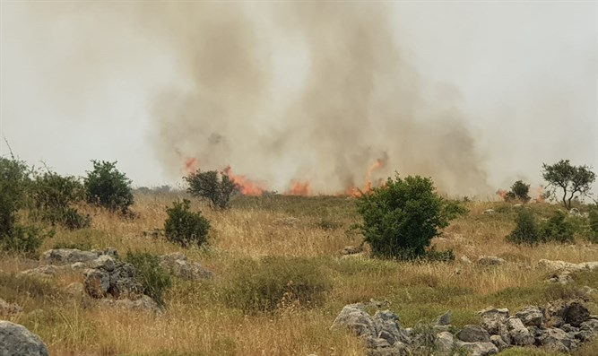 Fires break out around Israel