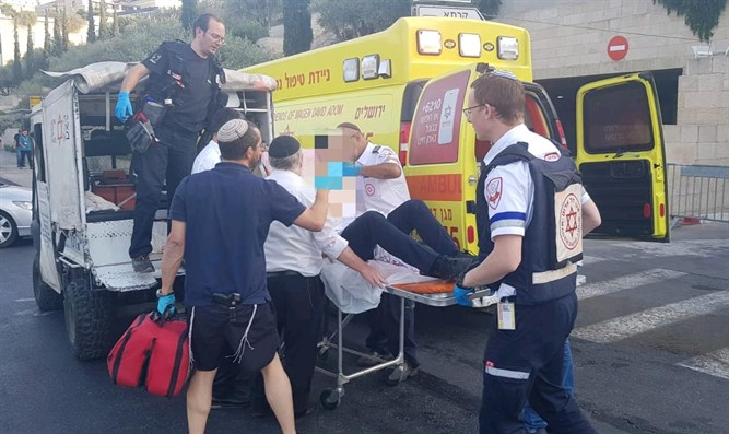 Victim of stabbing attack evacuated from scene