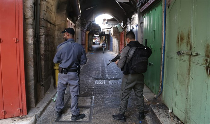 Scene of Damascus Gate stabbing attack