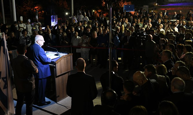 Rivlin at Russia Day reception