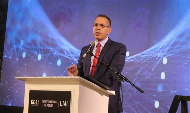 Public Security Minister Gilad Erdan at the conference