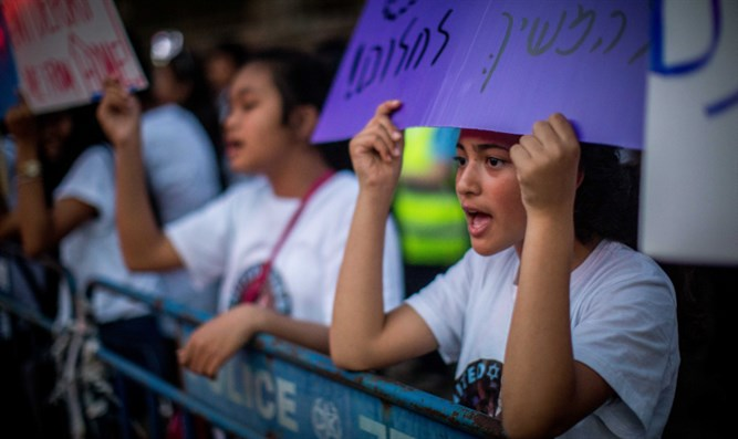 Filipino workers protest deportation plans, June 11th 2019