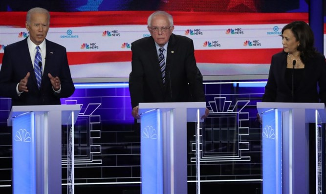 Kamala Harris, Joe Biden,  Bernie Sanders at Democratic presidential debate
