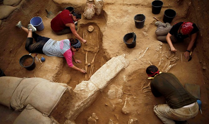 Philistine remains in Ashkelon