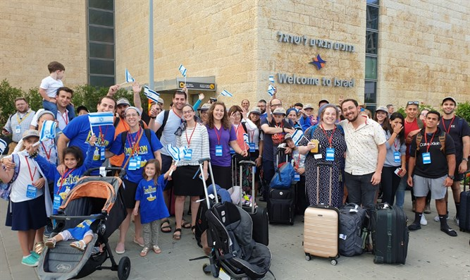 New immigrants to Israel brought by Nefesh B'Nefesh