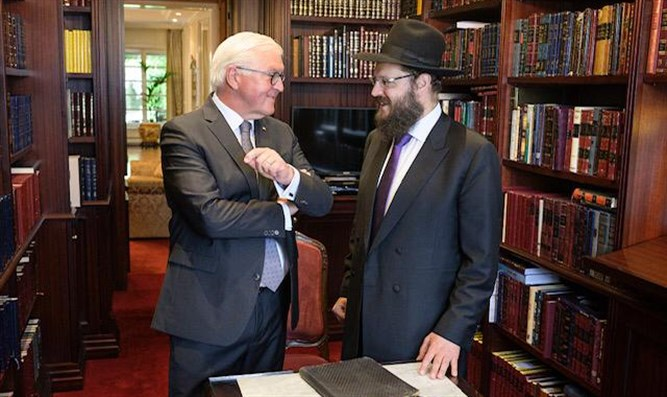 German President with Rabbi Teichtal
