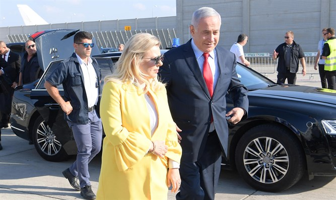 PM Netanyahu and his wife Sara on their way to Ukraine