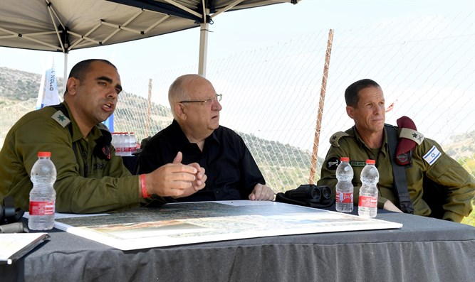 President Rivlin with the IDF Judea and Samaria Division