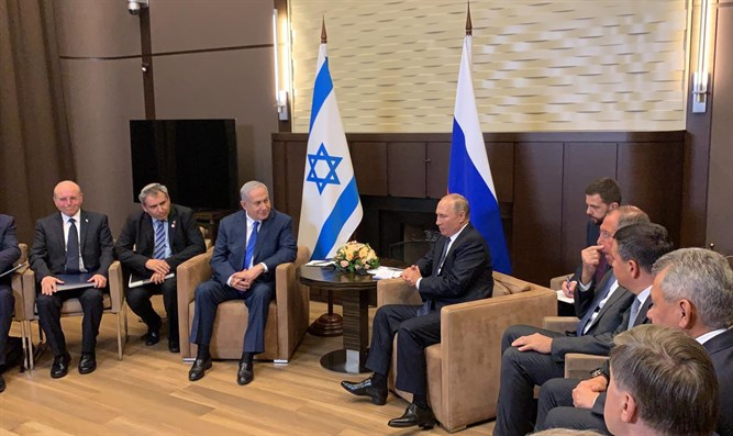 Netanyahu and Putin meeting in Sochi.