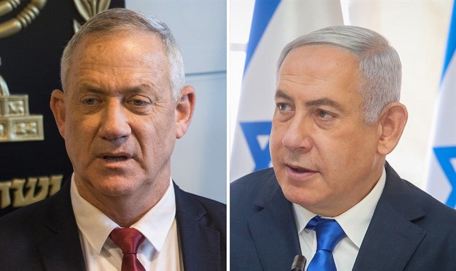 Neck-and-neck. Netanyahu and Gantz