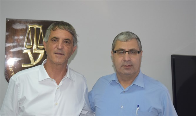 Bar Association head Adv. Avi Himi and Adv. Rida Jaber