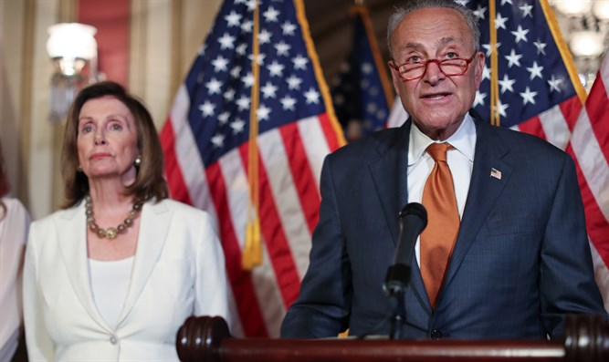 Nancy Pelosi, Chuck Schumer lead a news conference September 9th, 2019