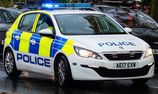 Greater Manchester police car