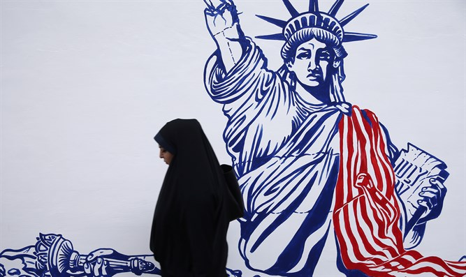 New murals on walls of former US embassy in Tehran