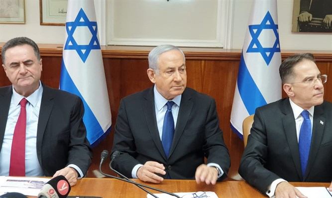 PM Netanyahu at a government meeting