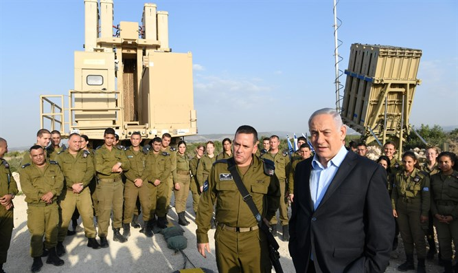 Netanyahu at Iron Dome missile battery