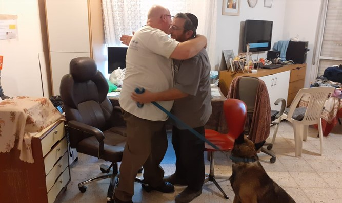 Missing man meets dog that saved his life