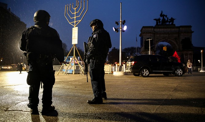 Police guard solidarity event after Monsey attack