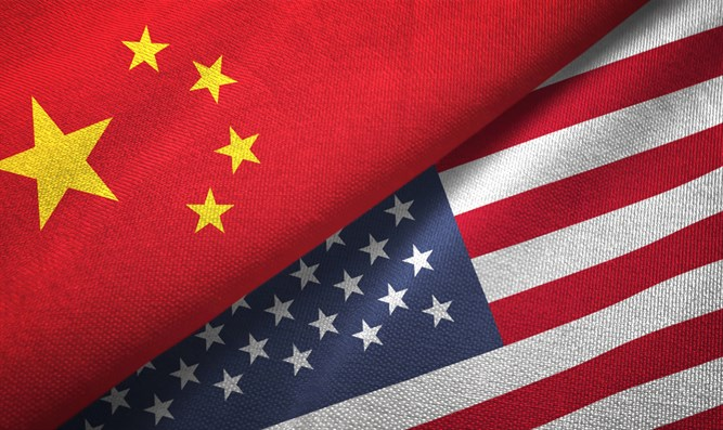United States and China flags