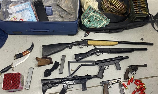 Some of the confiscated weapons