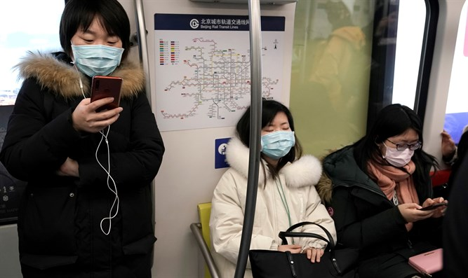 People wearing masks in China