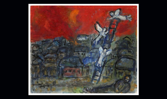 Prized Marc Chagall painting stolen in the '90s resurfaces at an Israeli auction