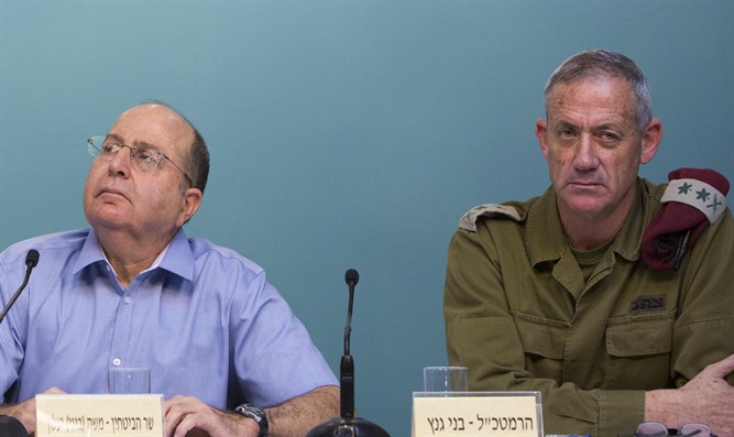 DM Yaalon and Chief of Staff Gantz during Protective Edge