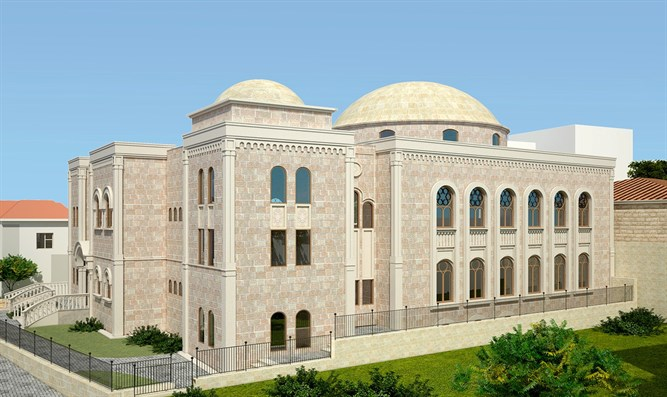 The amazing and beautiful building Kollel Chatzos in Beitar