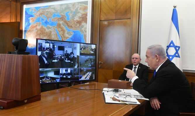Netanyahu at Cabinet meeting (archive)