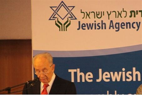 President Peres addresses the Jewish Agency