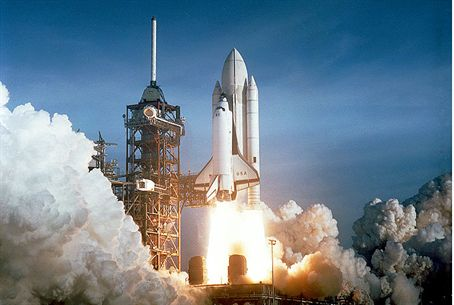 US space shuttle launch