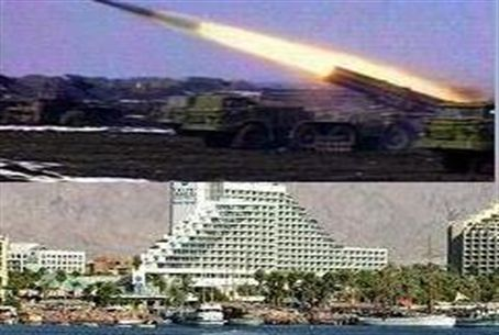 Katyusha rocket and Eilat hotel
