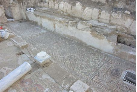 Mosaic floor at Hirbet Madras