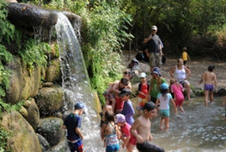 Golan Heights waterfall