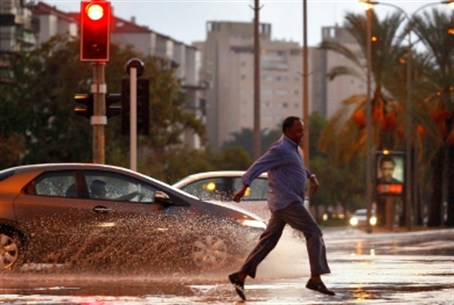 Heavy rains in Israel