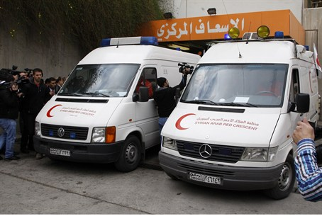 Red Crescent in Homs