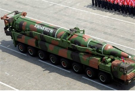North Korea mobile rocket in parade (file)