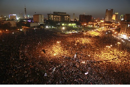 Egyptians protesting Mubarak verdict in Tahri