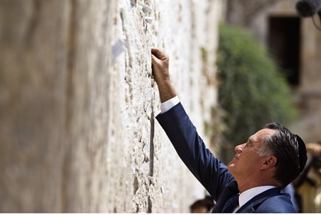 Romney at Kotel