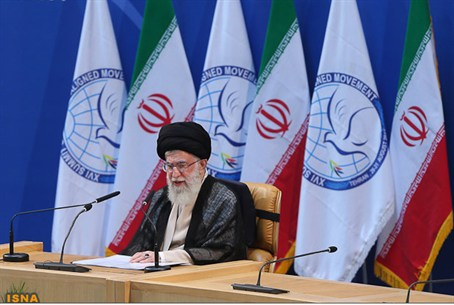 Khamenei speaks during the summit of the Non-