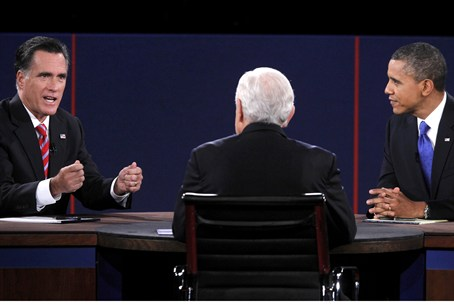 Romney and Obama in third debate