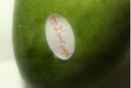 Warning in Arabic on mango found in Gilo