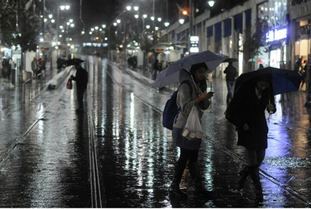 Rainy night in Jerusalem (file)
